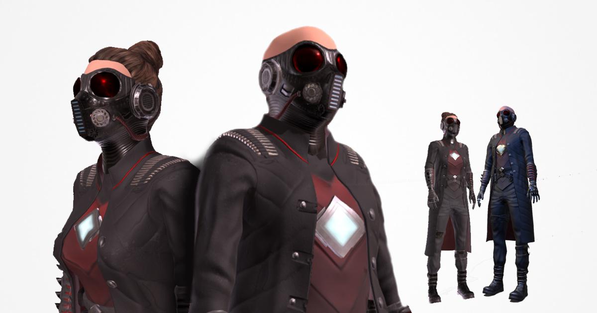 Sci-fi suit AC-1 modular pack
