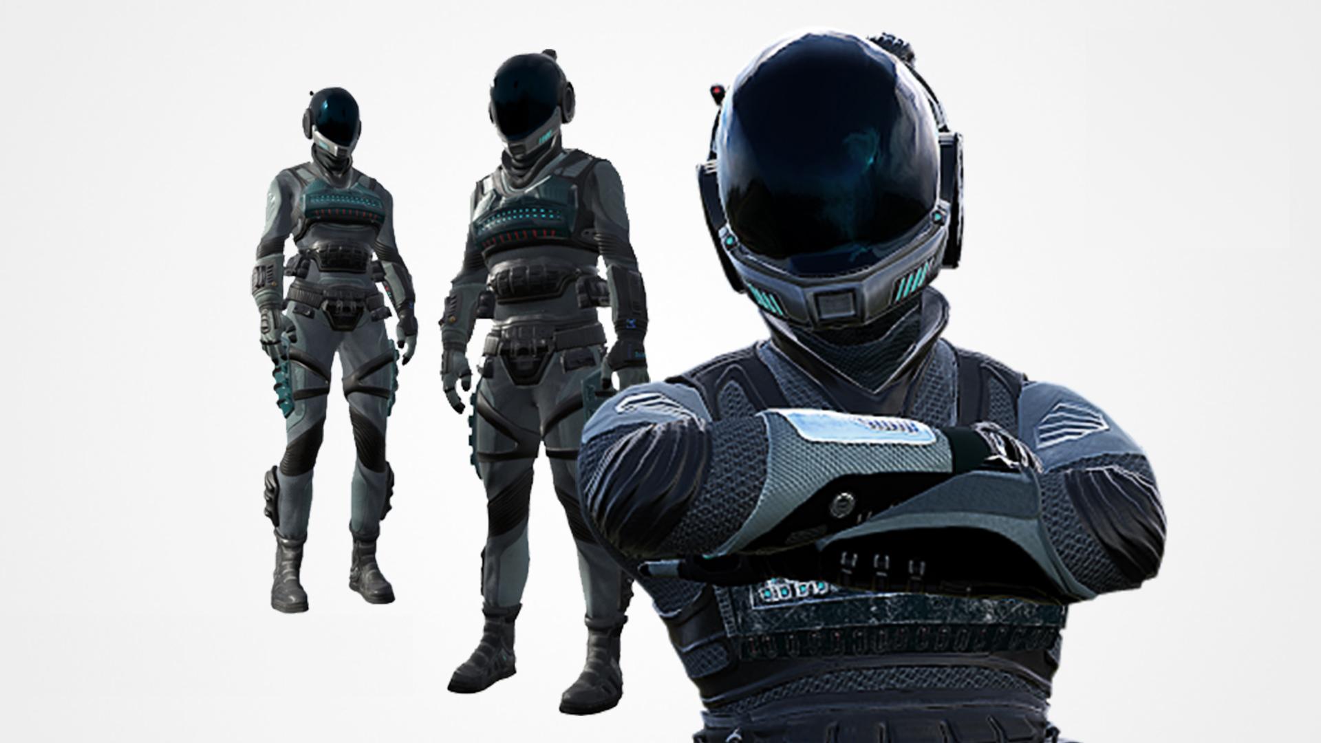 Sci-fi suit EC-1 modular pack