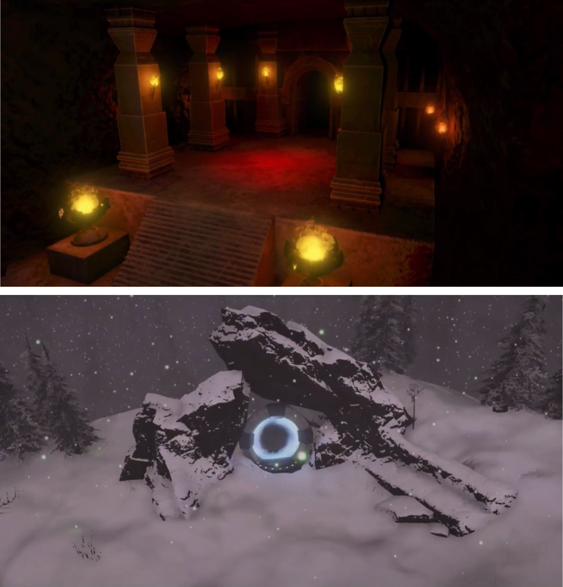 Underground Temple/Snowy Mountain Level Design
