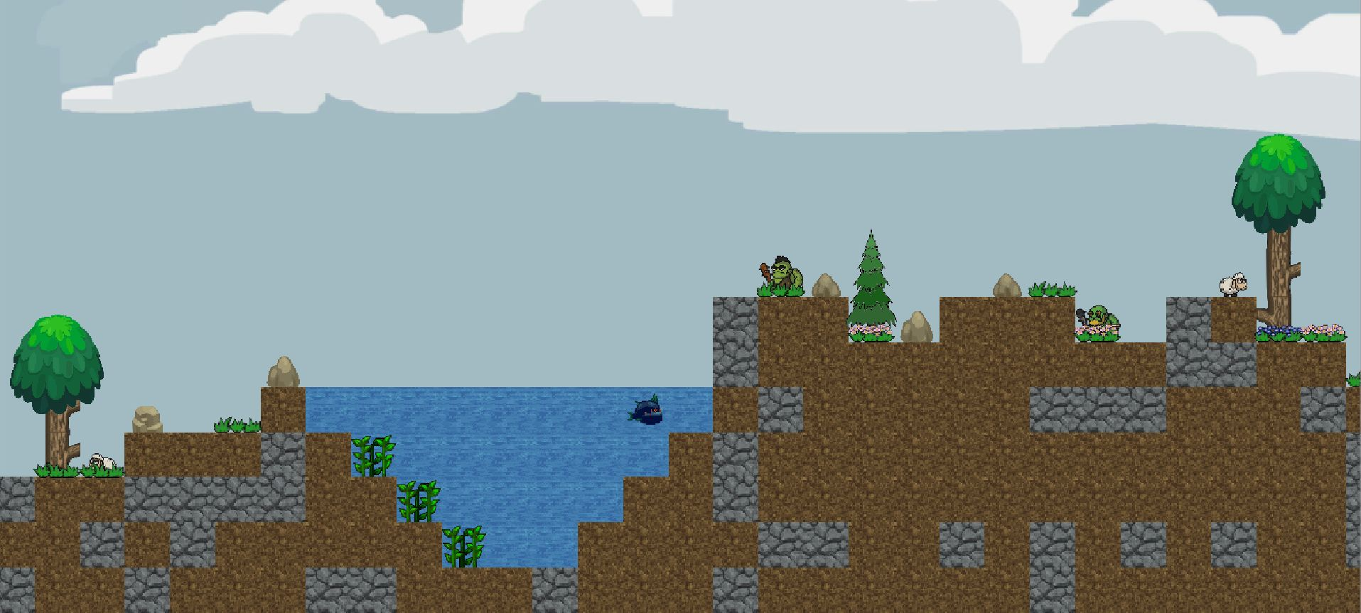 Procedural 2D world generation framework