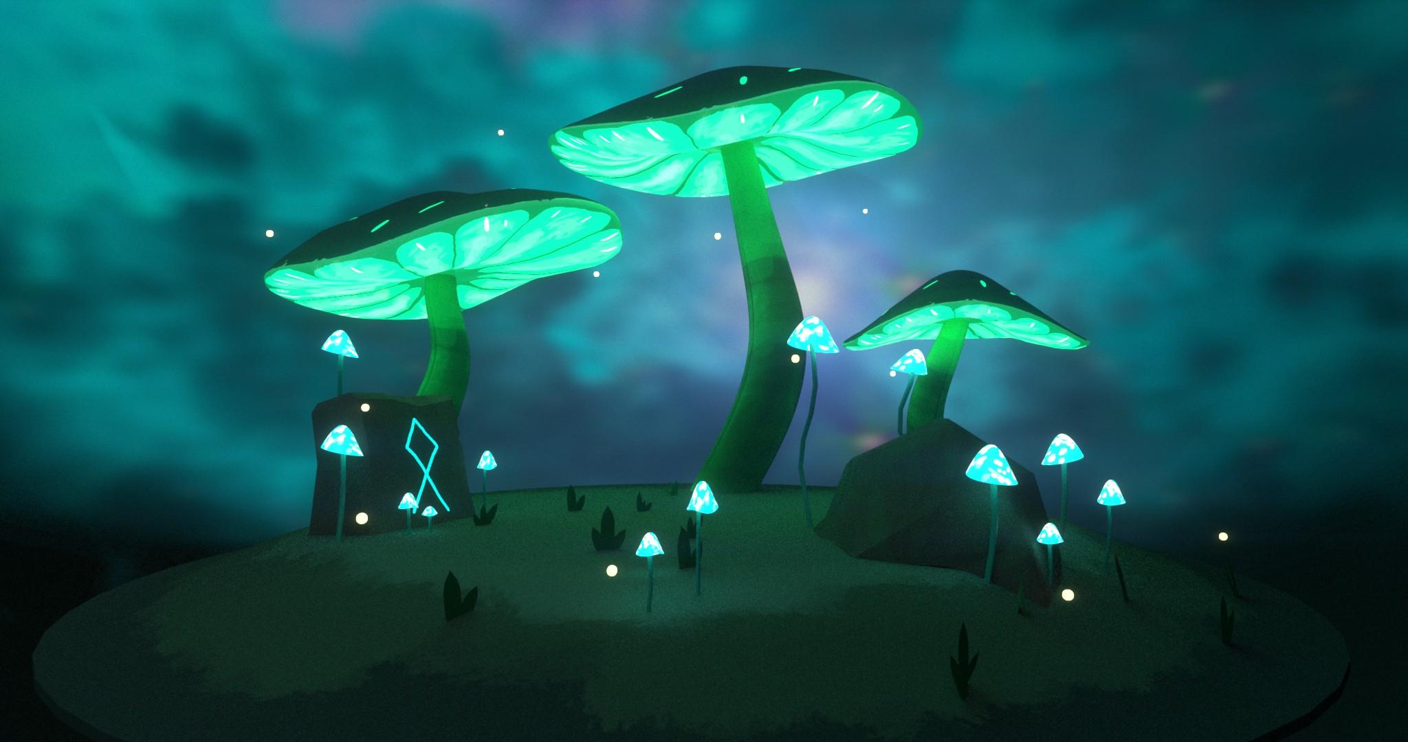 Mystic mushrooms (3d)