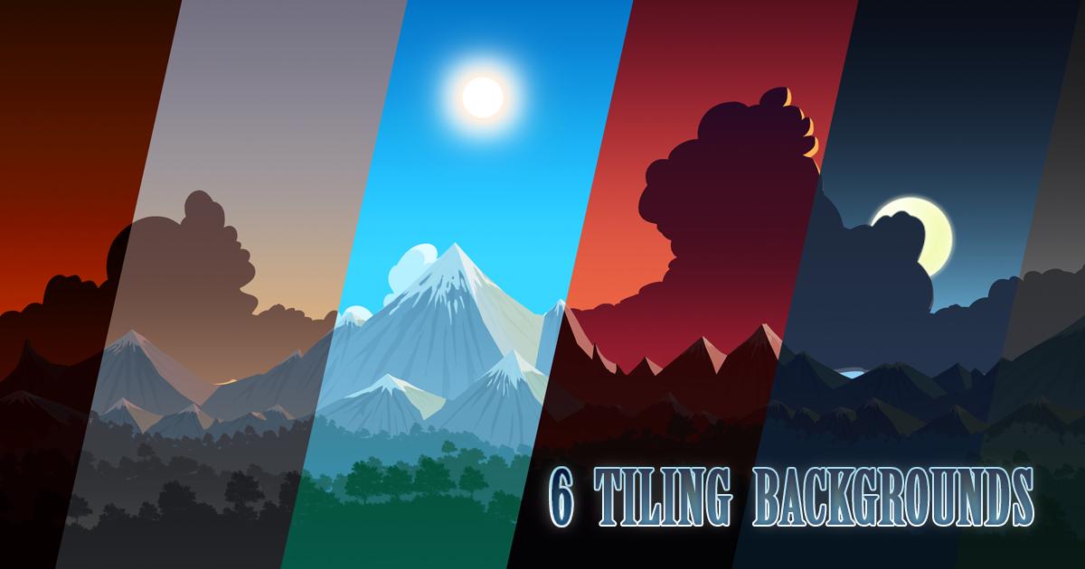 2D Tiling Background - 6 Moods