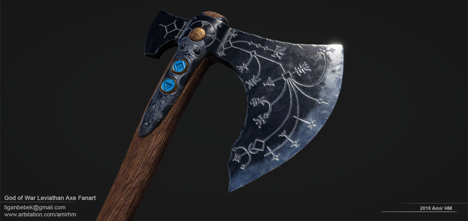 Fanart of GOW Leviathan Axe