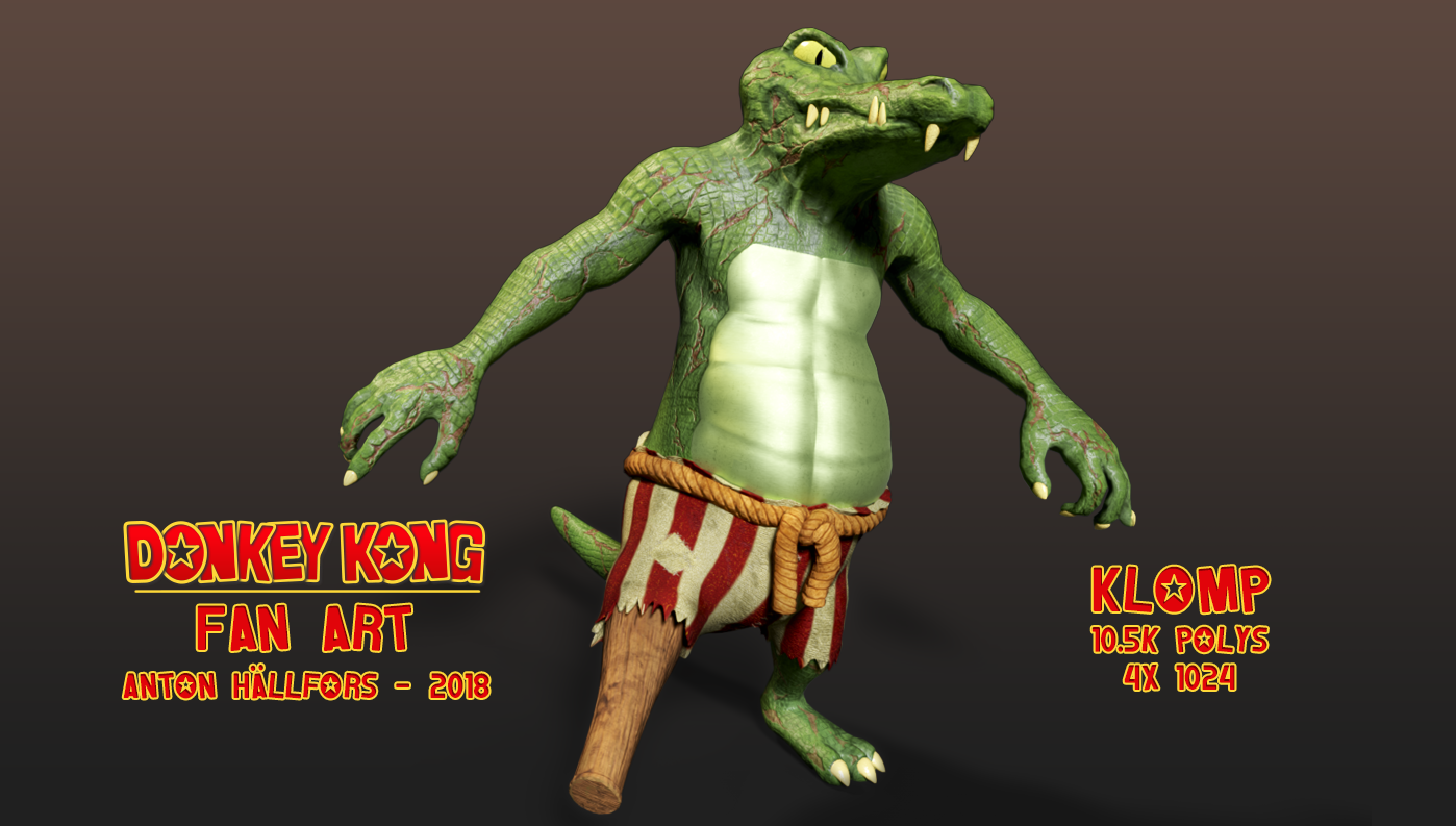 DKC2 Fanart - Klomp