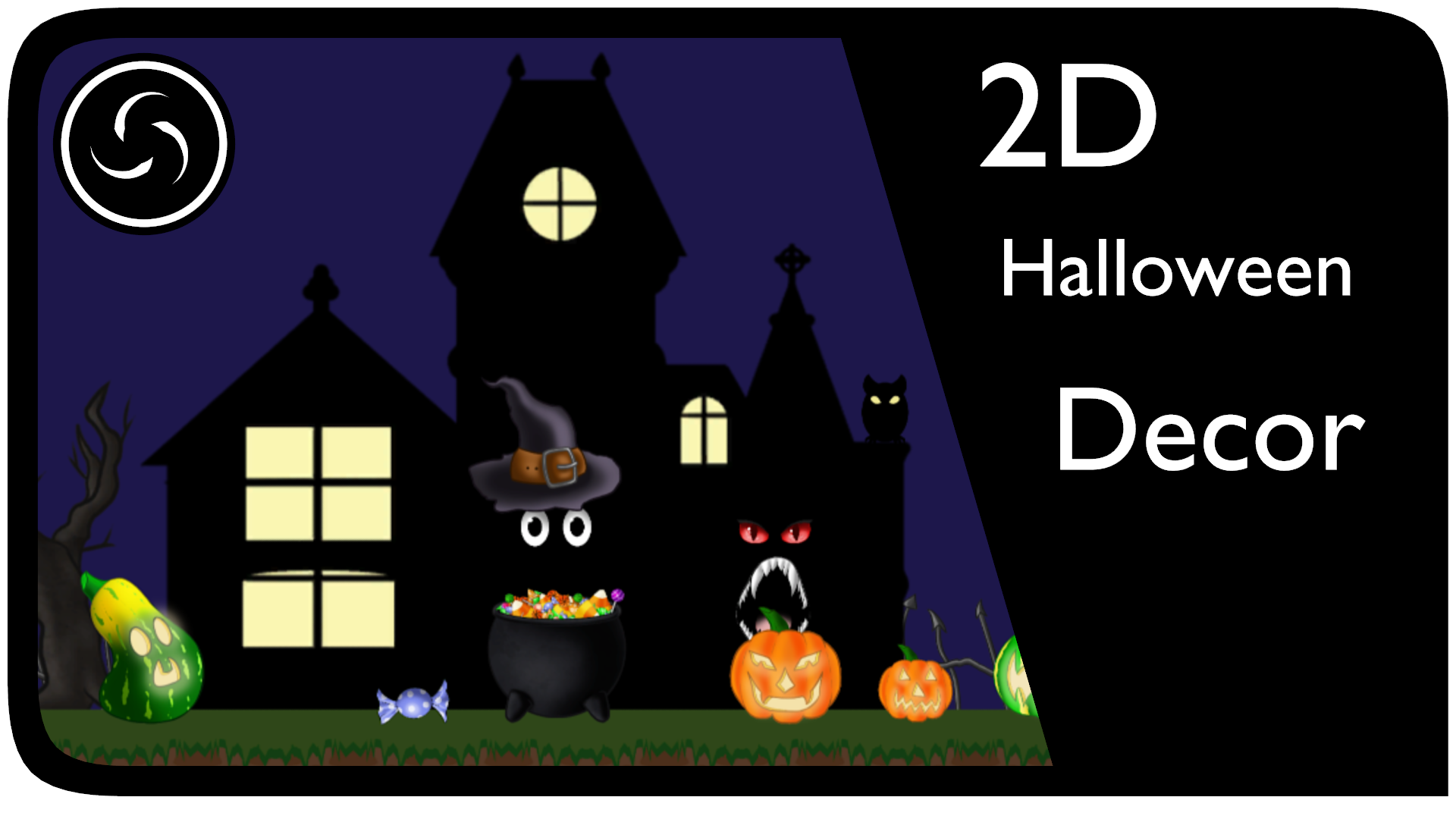 2D Halloween Decoration