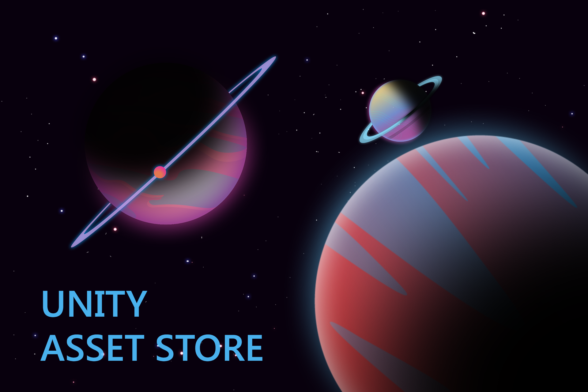Planets with Space Background 2.0 - Asset Store Project