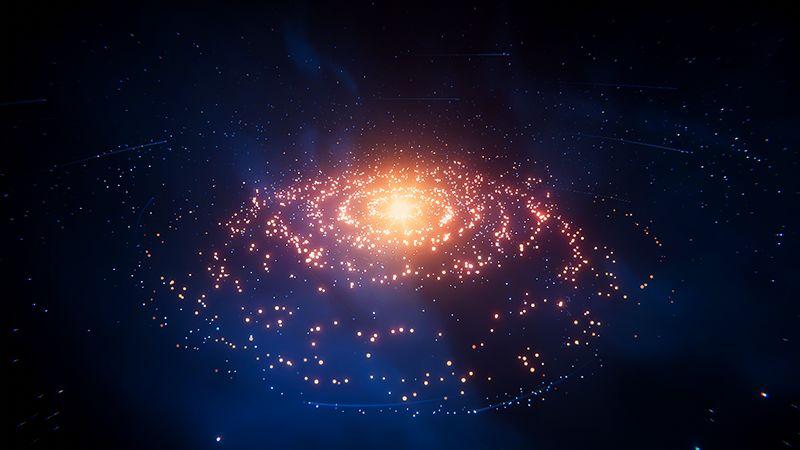 创作绚丽的粒子星系(1)