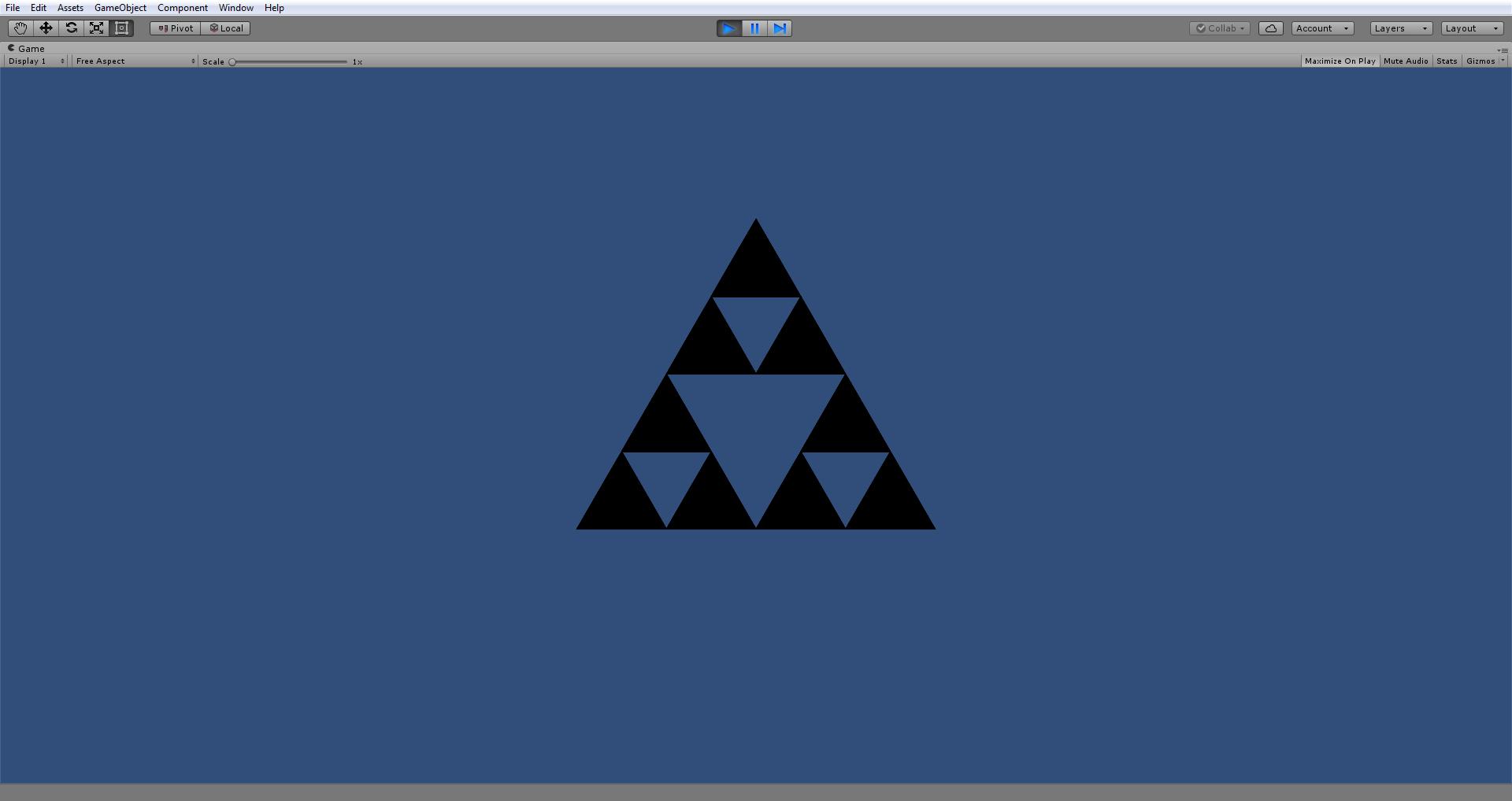 """""""Sierpinski triangle"""" fractal"""