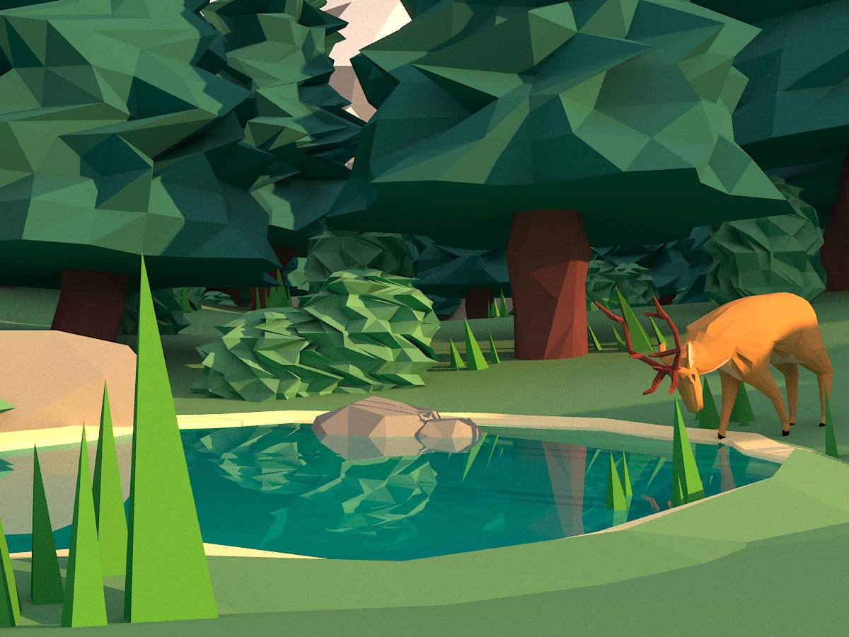 Low poly forest :)