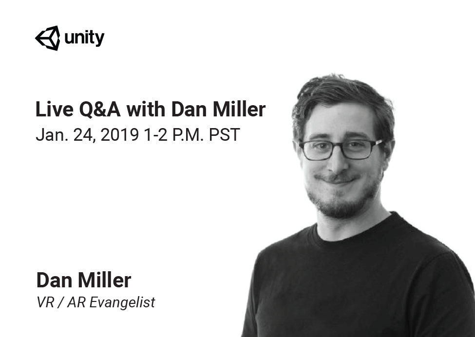 AR Live Q&A with Dan Miller