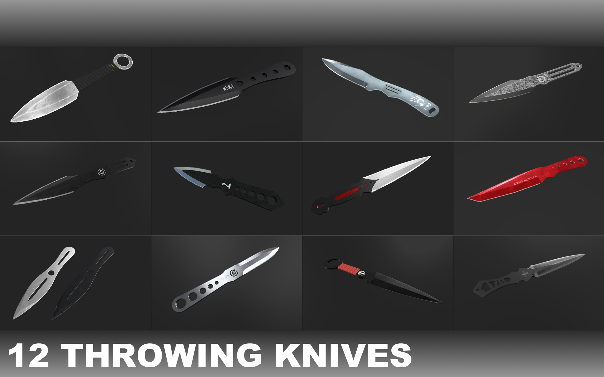 Throwing Knives Pack PBR