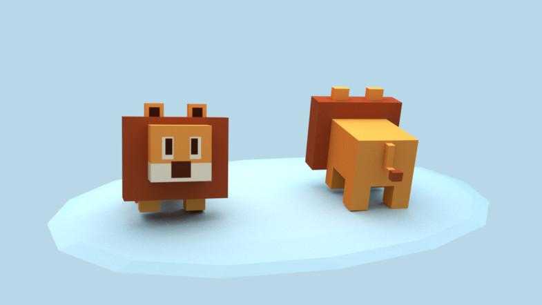 Animated Block Animals Blocky Pets
