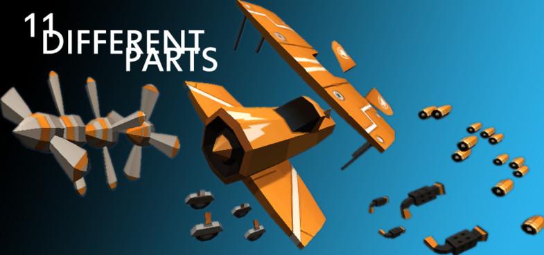 Customizable Cartoon Plane Pack