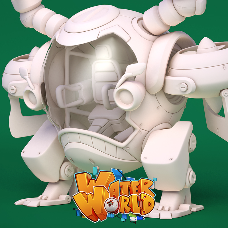 WaterWorld - BARM MECH High Poly Model