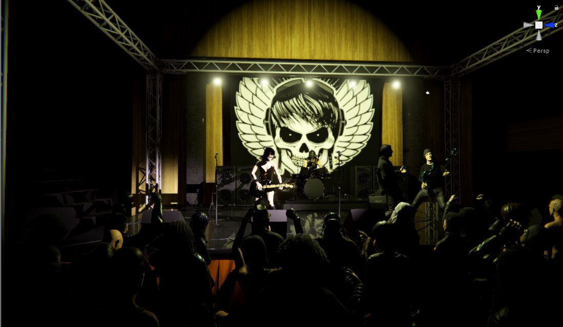 Punk rock concert video