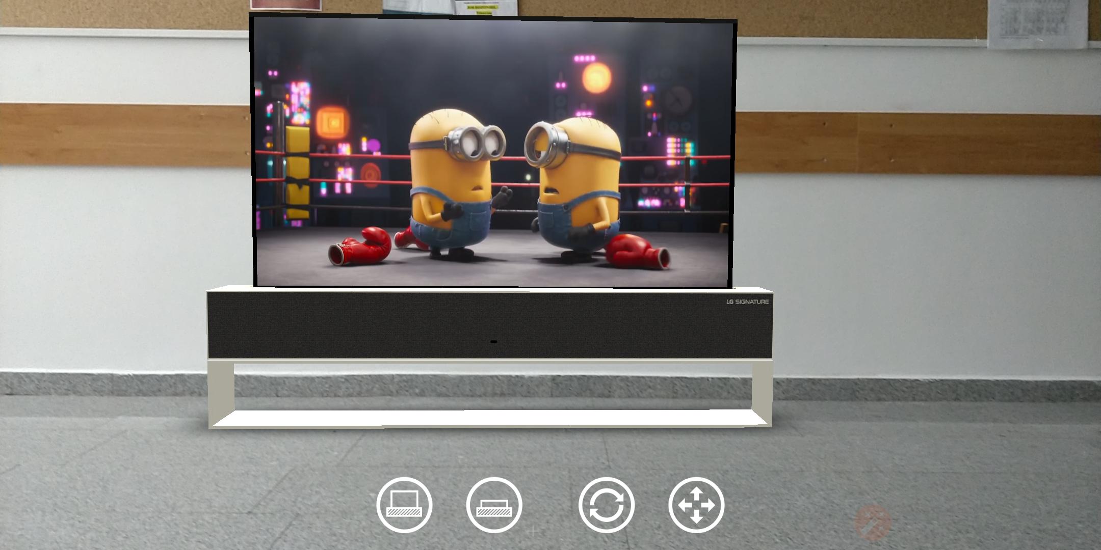 AR LG Signature OLED TV R