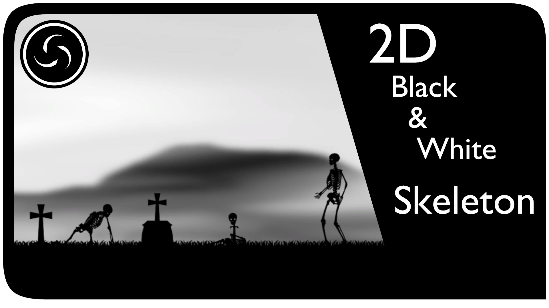 2D Black & White Skeleton