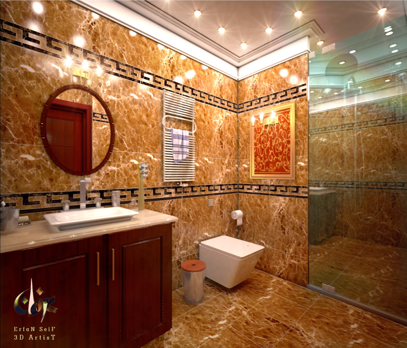 3D bathroo design