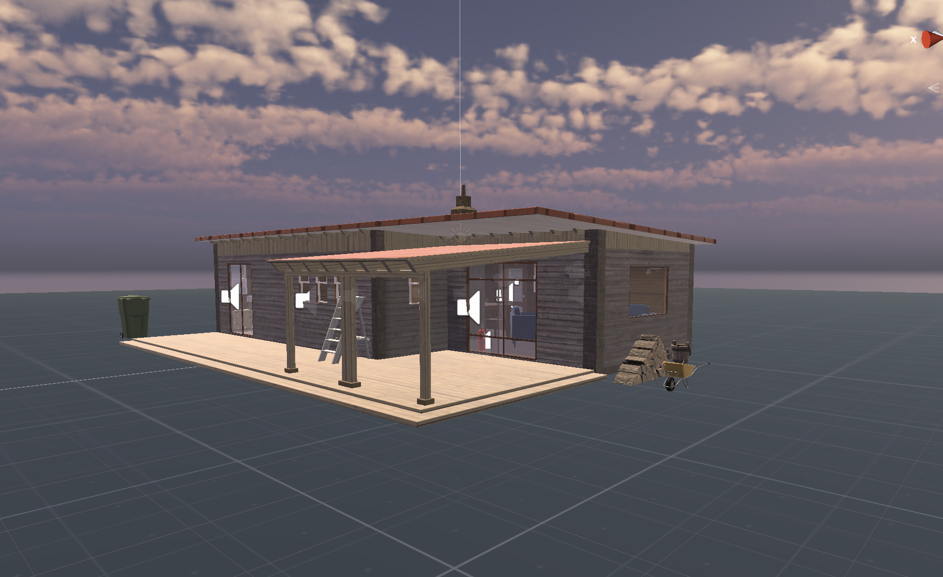 Cabin Interior & Household Items Game Asset