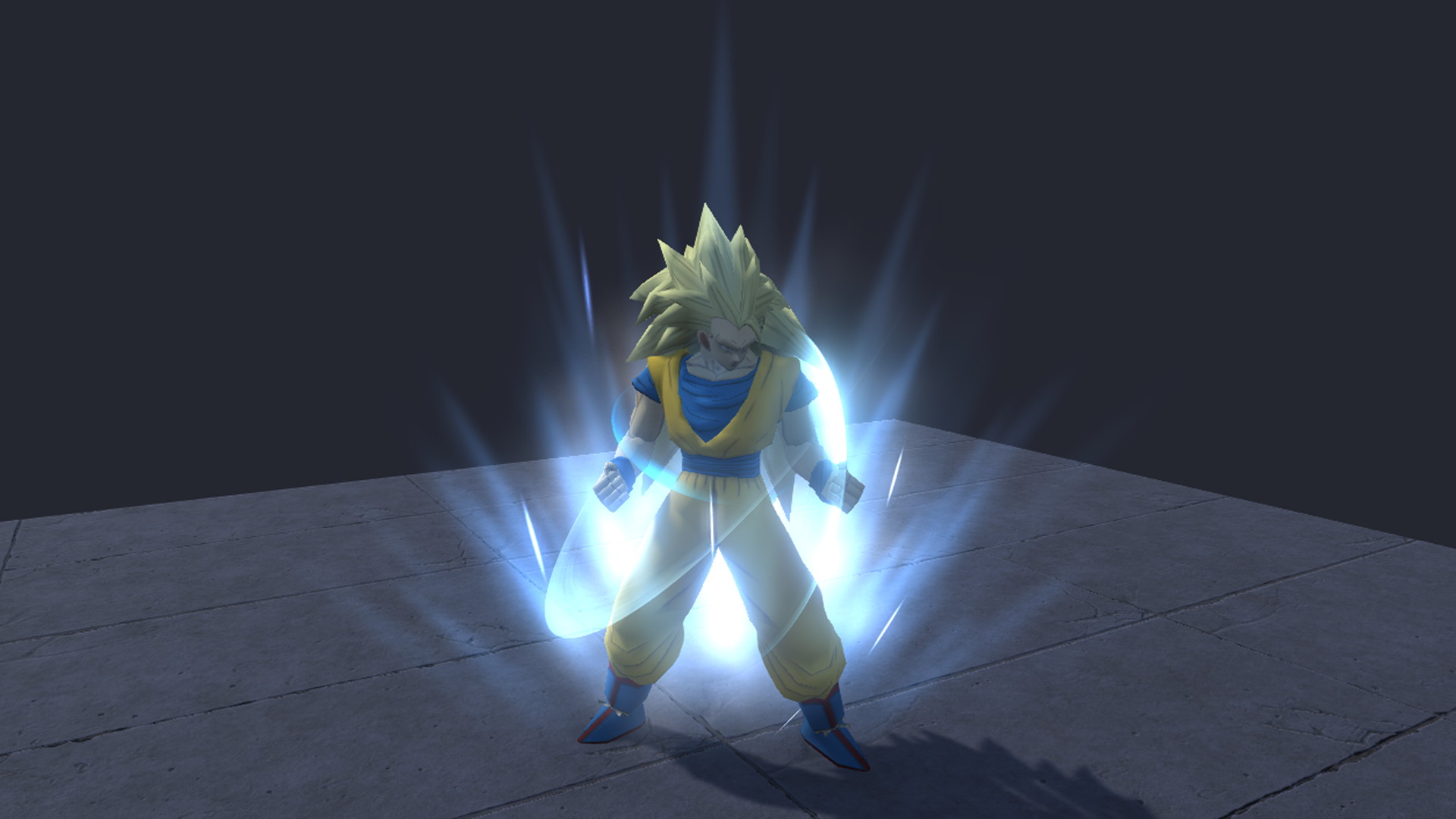 Guide how to create super Saiyan aura/charge up in Unity 2018.1