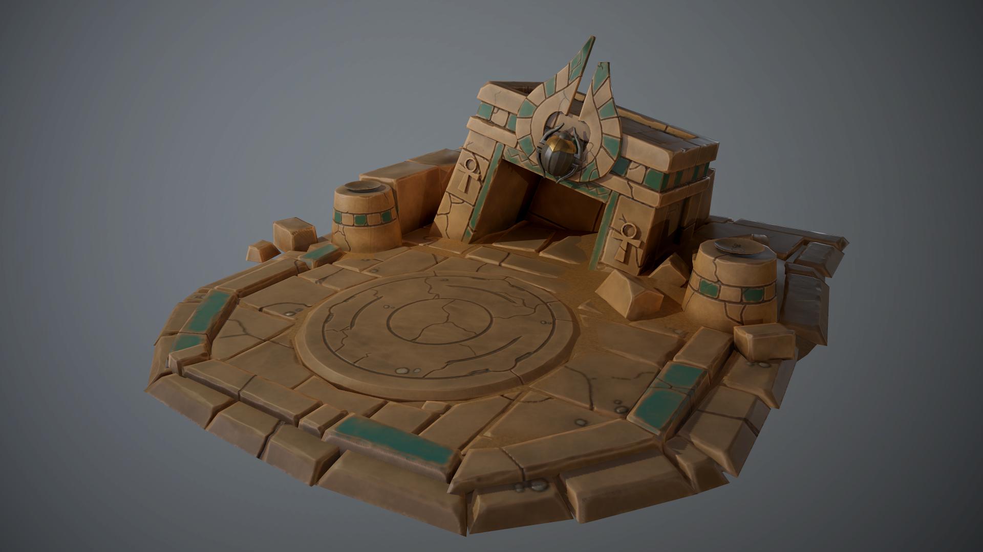 Stylized Pharaoh's crypt