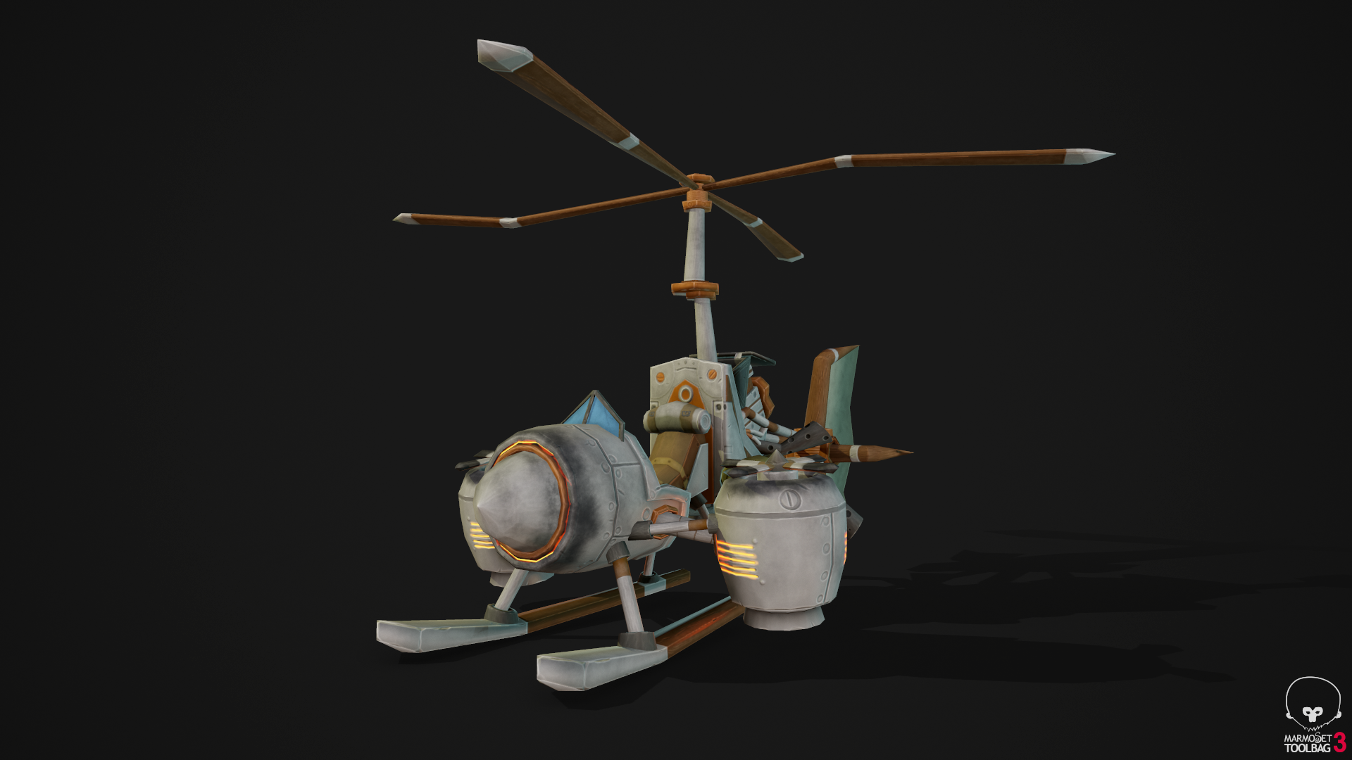 Stylized gyrocopter