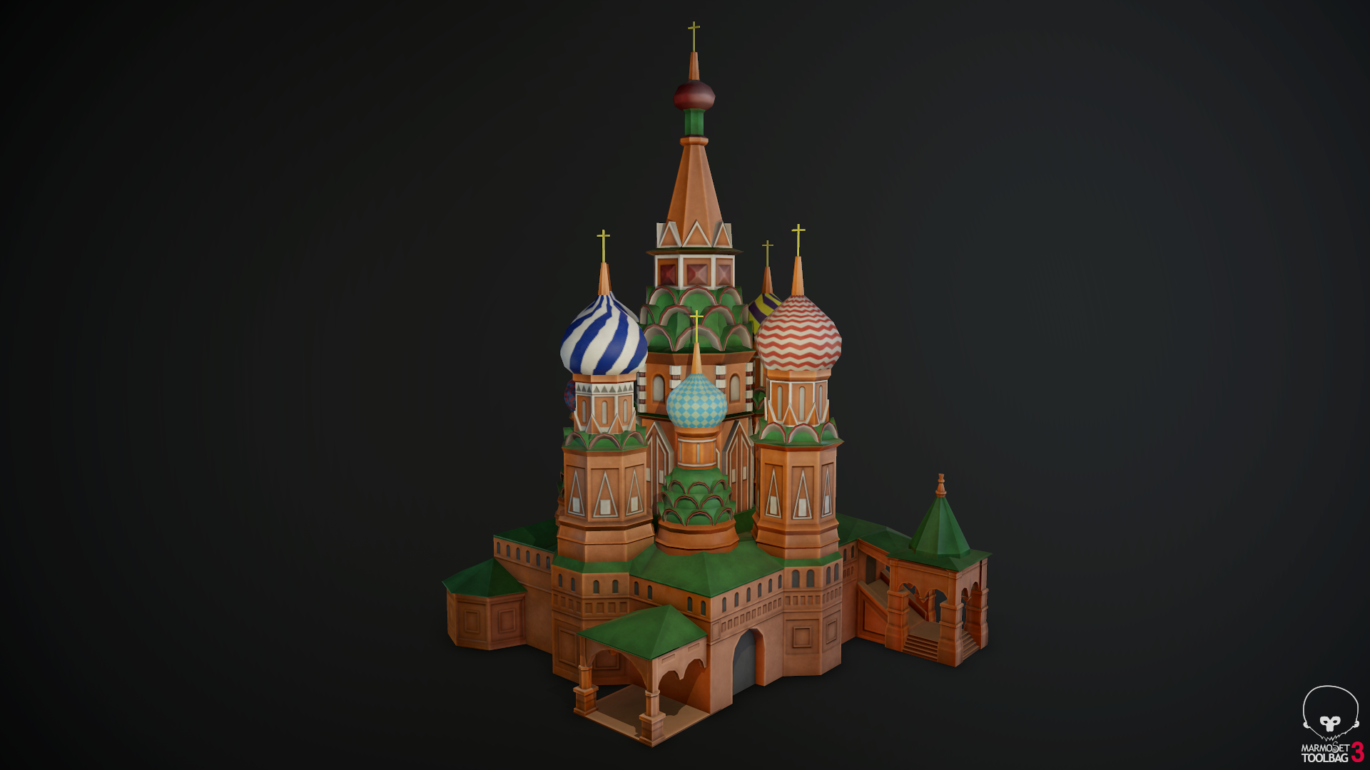St. Basil's Cathedral (simplified)