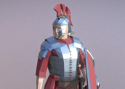 Low-Poly 3d Gladiators