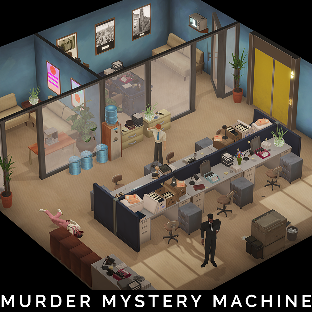 Newspaper Office Layout 1 - Murder Mystery Machine