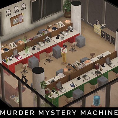 Newspaper Office Layout 2 - Murder Mystery Machine