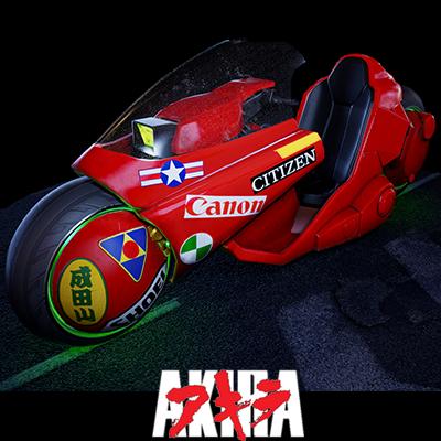 Kaneda's Bike from Akira Fanart