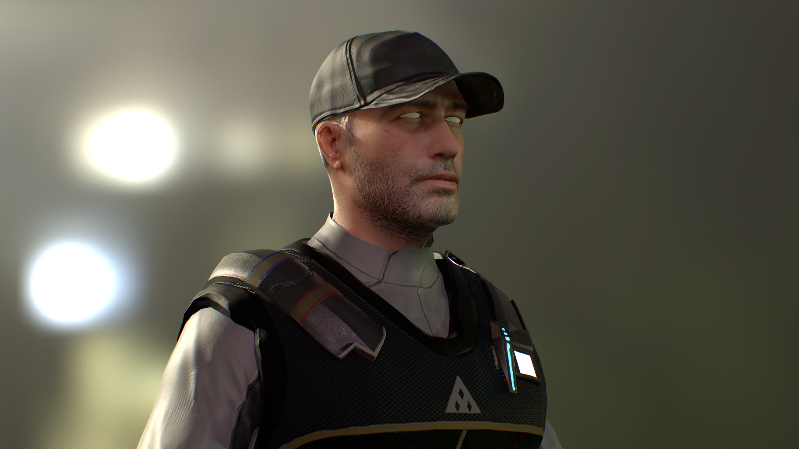 Security (3d Character Modeling and Texturing for ManMade: SciFi Action Adventure Game)