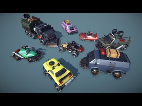 Customizable Cars pack v2 PostApo (available on assetstore)
