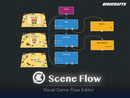 Scene Flow - Visual Game Flow Editor