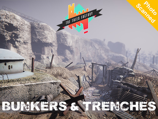 Our pack BUNKER & TRENCHES is now available ! It contains photoscanned PBR assets !
