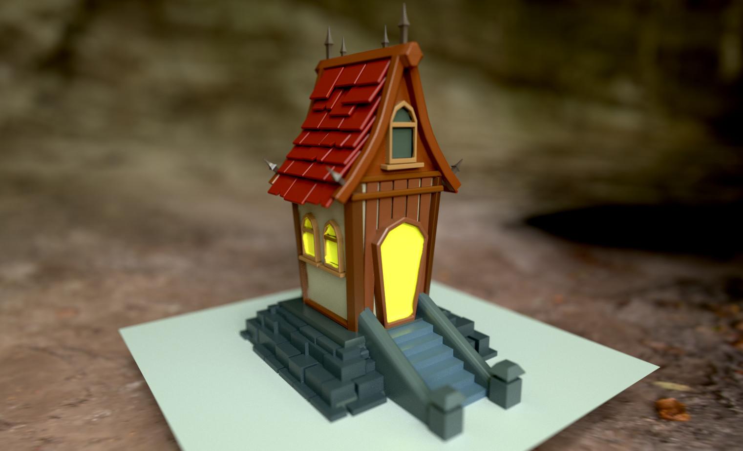 Stylized House (Maya + Substance Painter)