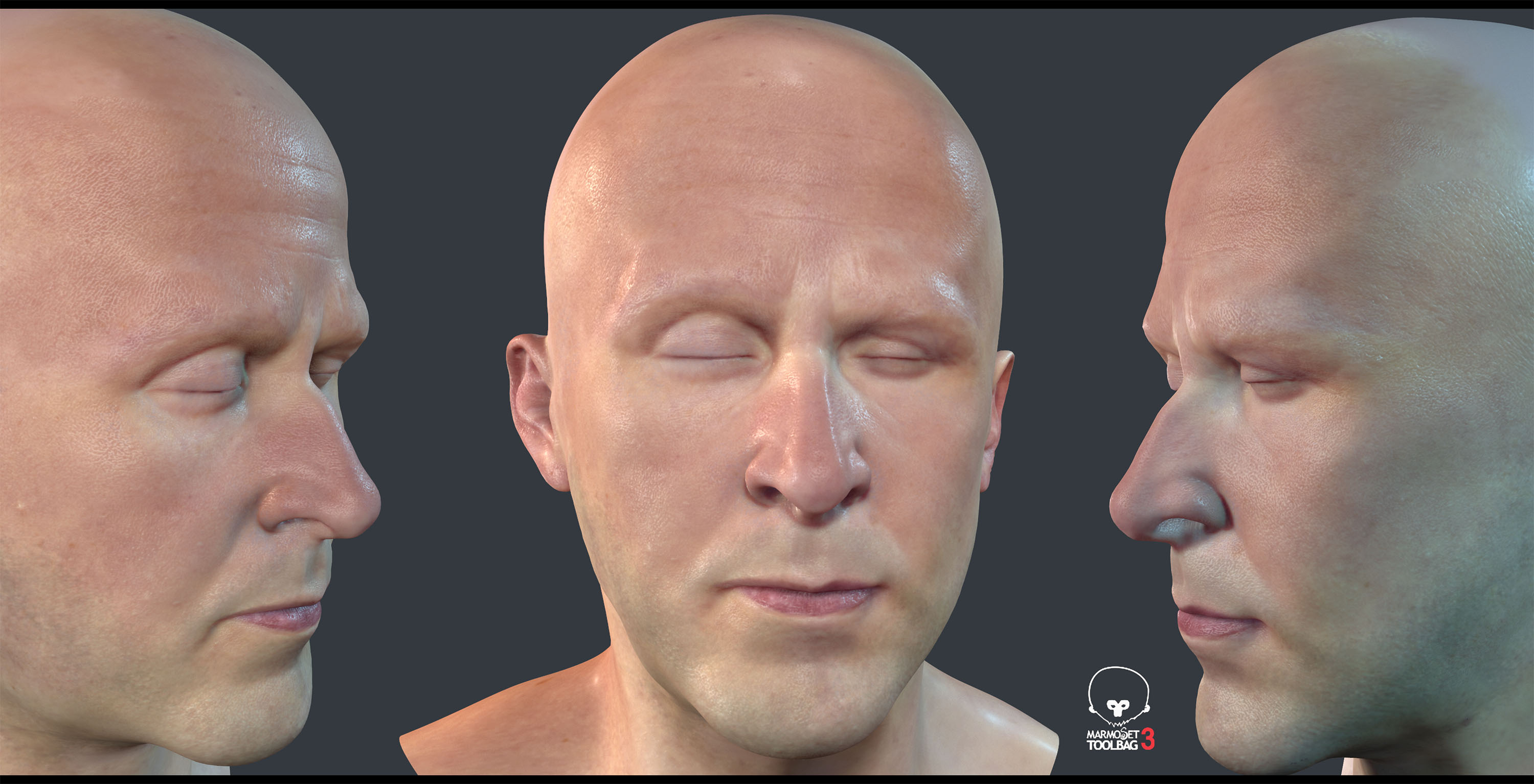 real time human head