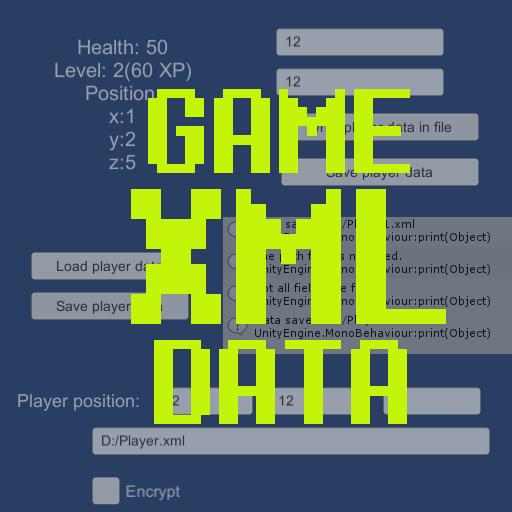 XML Game Data: Load, Save, Change