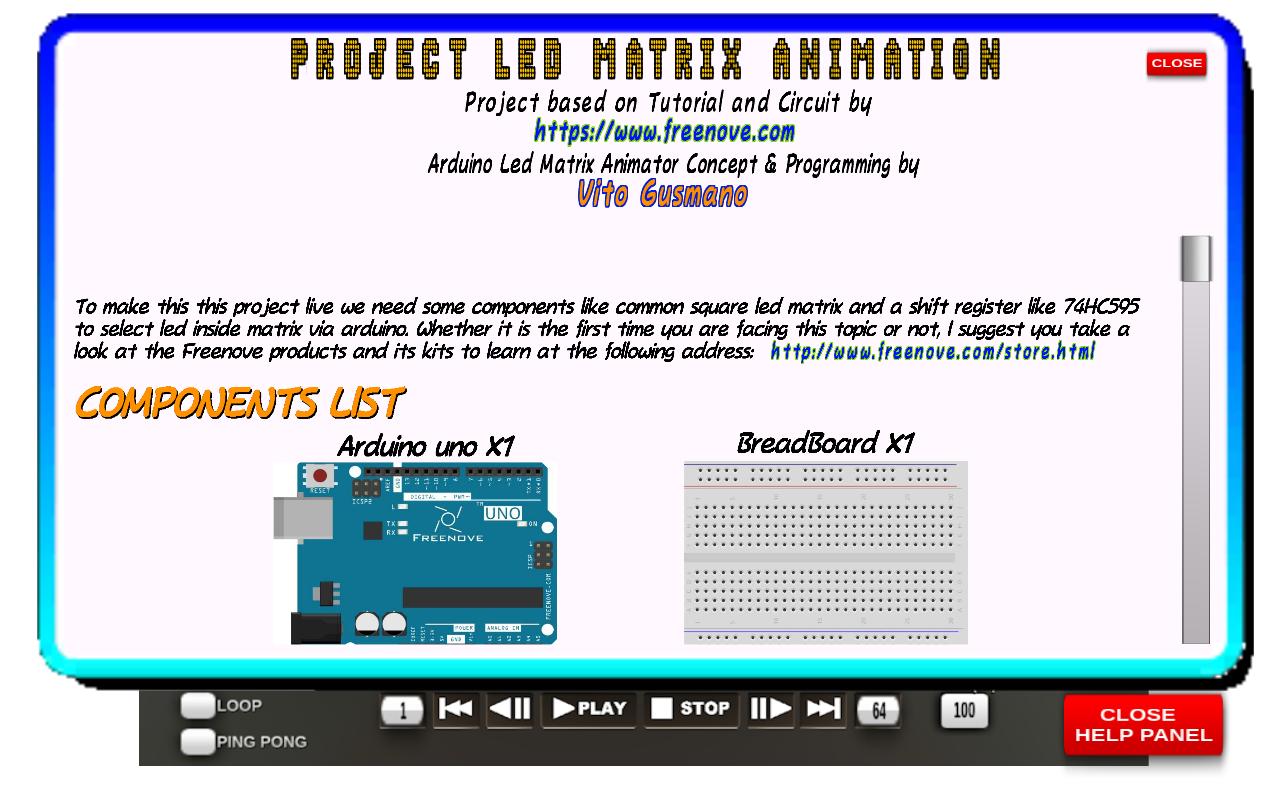 Locandina Arduino Led Matrix Animator
