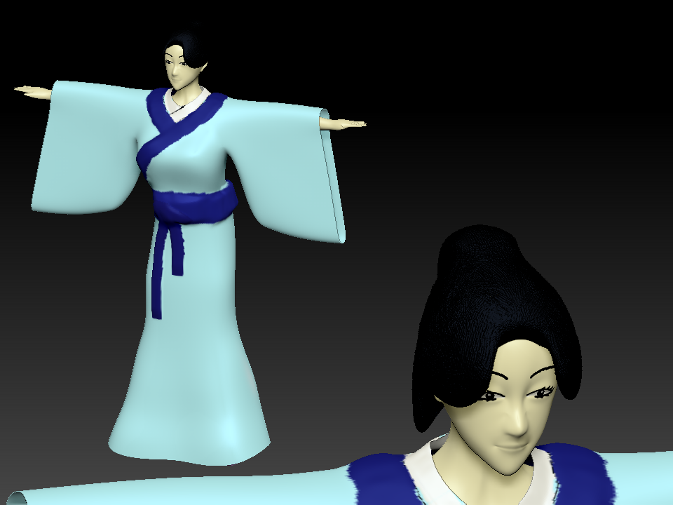 3d Chinese traditional Model/ 3d古代人物模型