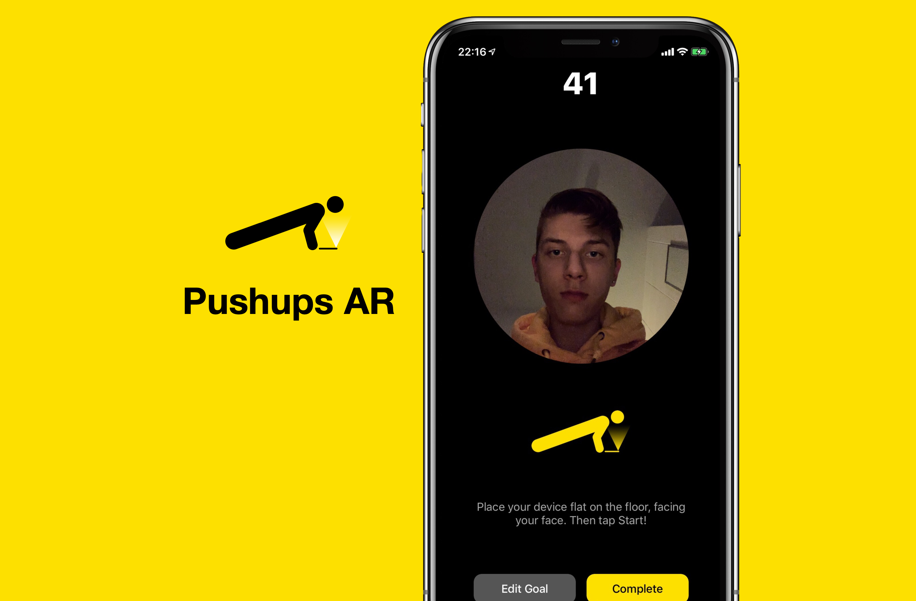 I made a free app that counts your push-ups with ARKit.