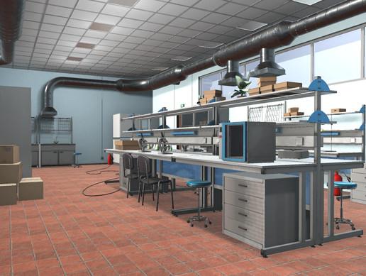 Laboratory - interior and props