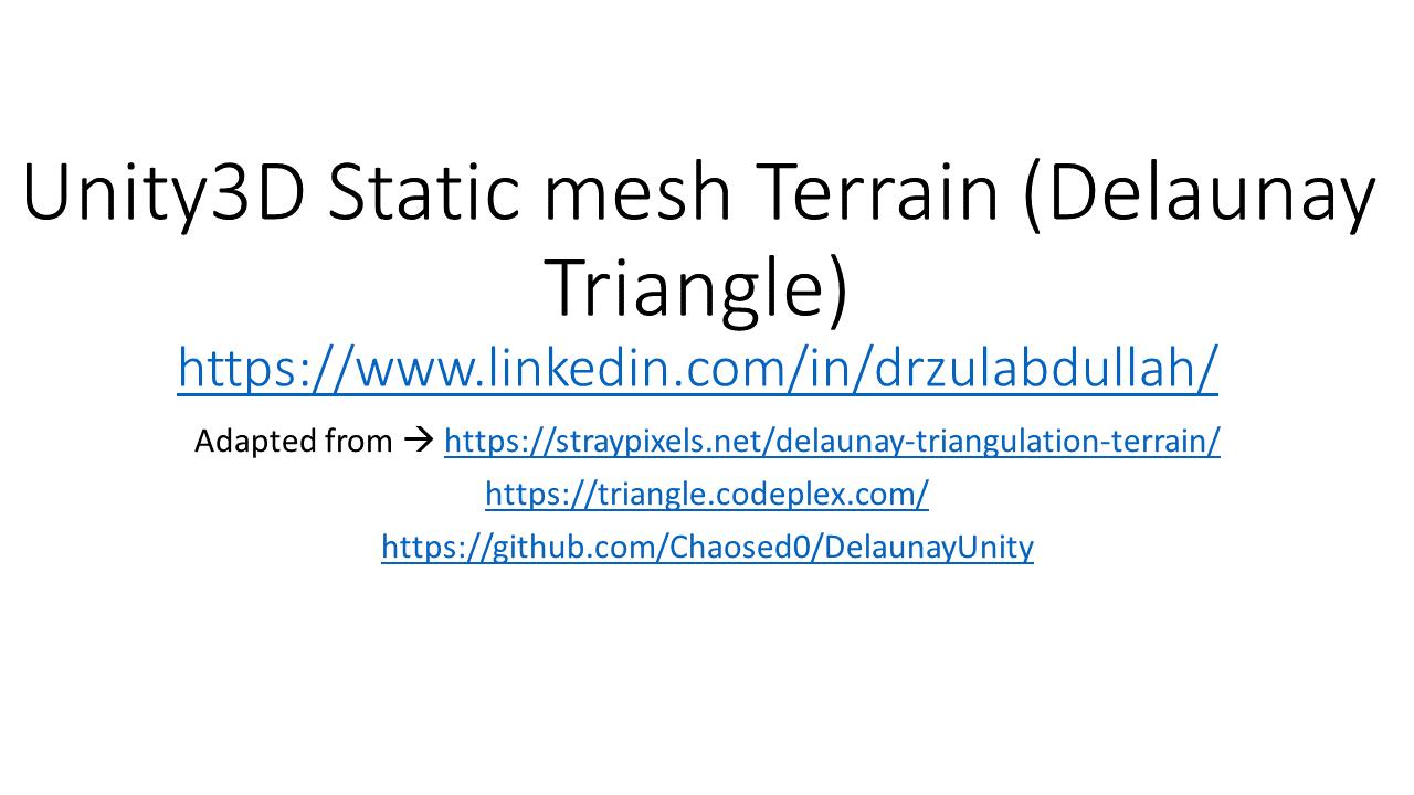 Unity Terrain