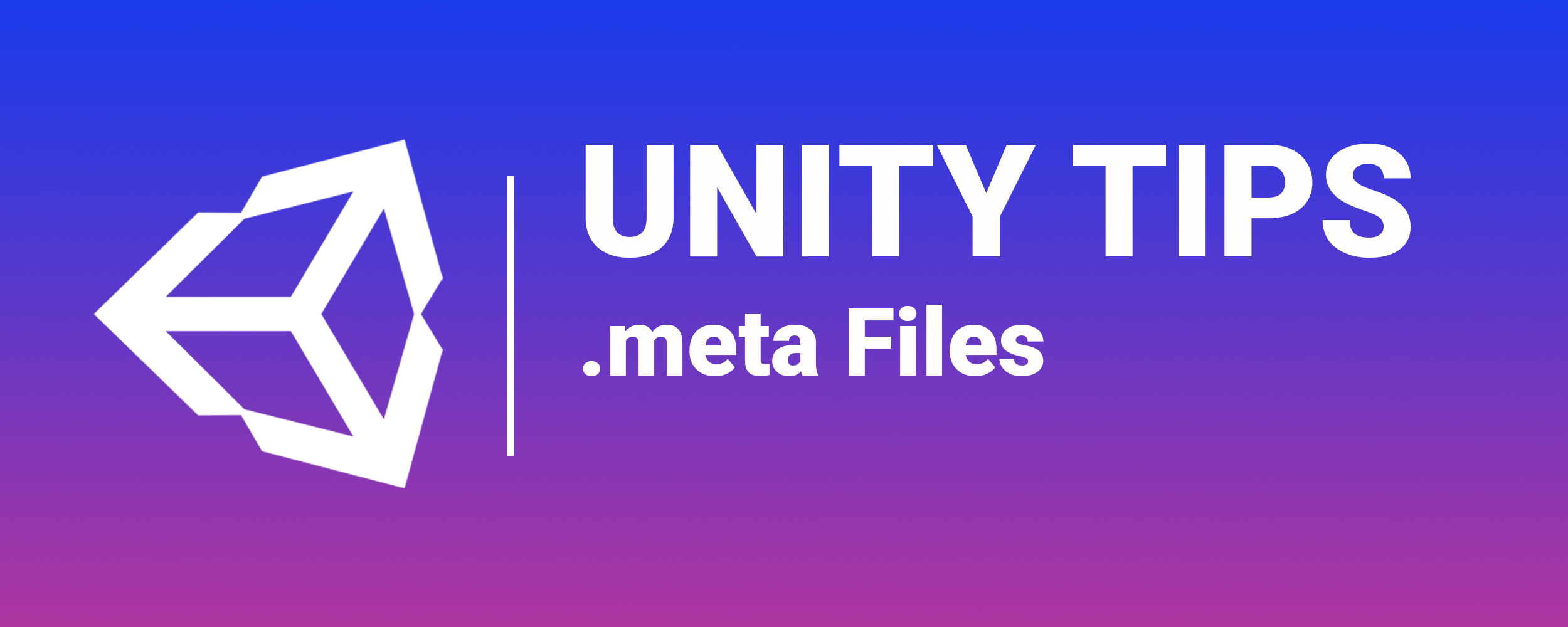 Unity Tips: .meta Files