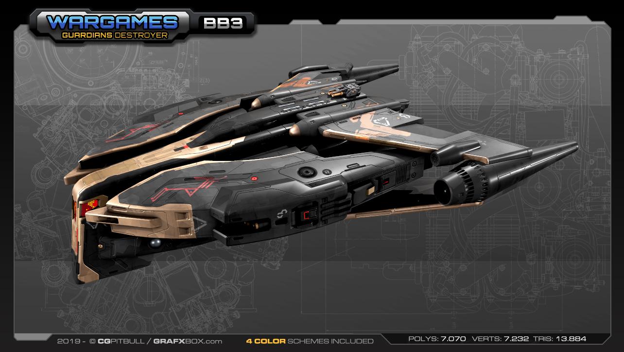 SF Guardians Destroyer BB3