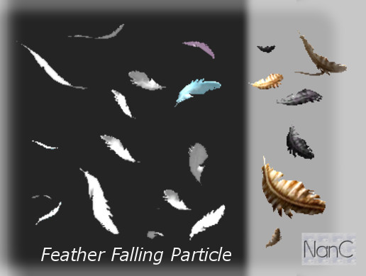 Feather Falling Particle