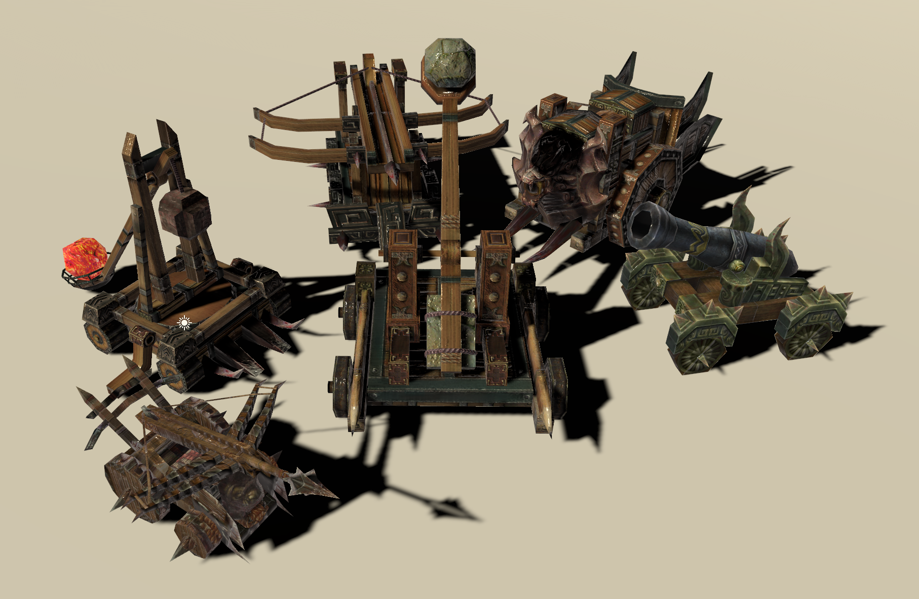 [Asset]Catapult Ballista Siege Weapons