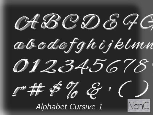 Alphabet Cursive 1