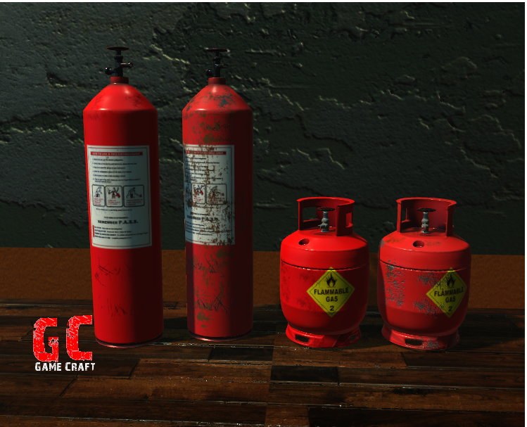 High Poly Gas Cylinders