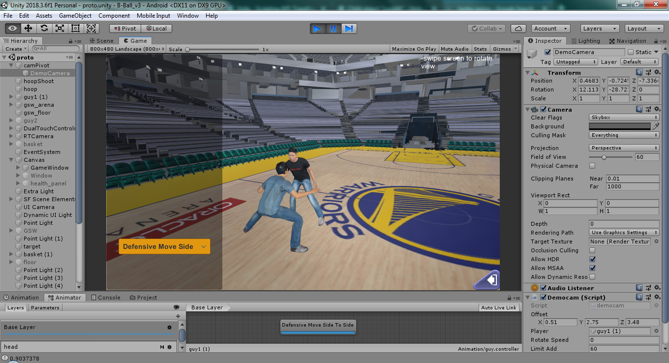 3d Basketball moves demo